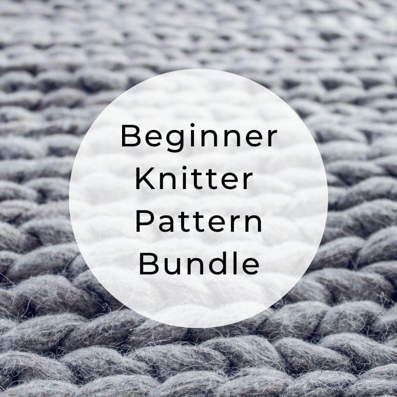 Beginner knitter pattern bundle