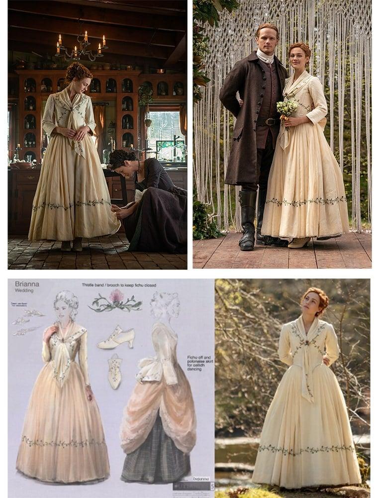 Brianna Outlander wedding dress