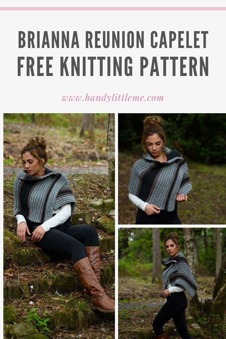 Brianna reunion capelet knitting pattern