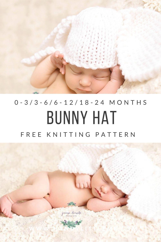 Bunny hat knitting pattern