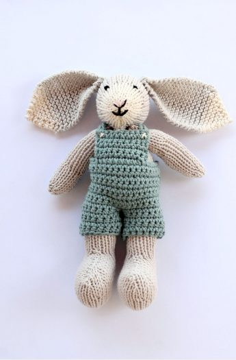 Stuffed Bunny Pattern {With Crochet Overalls}