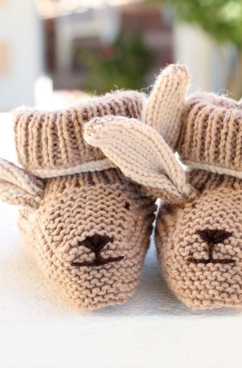 Bunny Booties Knitting Pattern
