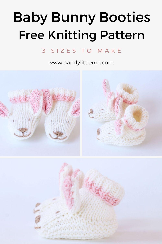 Bunny slippers knitting pattern
