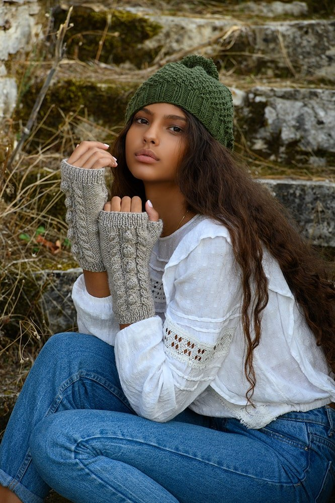 Herb-Garden-Cable-Knit-Mittens-Pattern