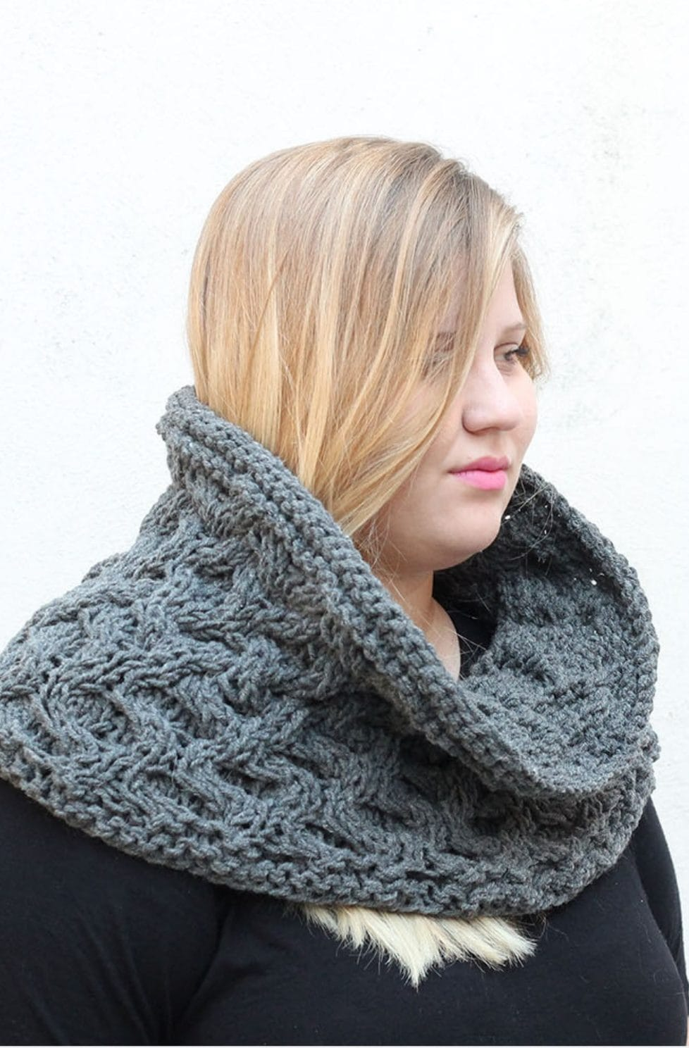 Cable Cowl Pattern | The Melina
