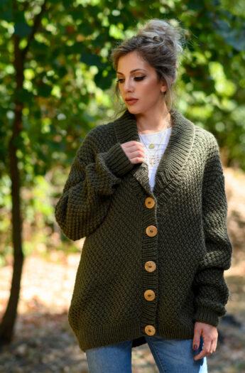 Irish Moss Stitch Cardigan Knitting Pattern