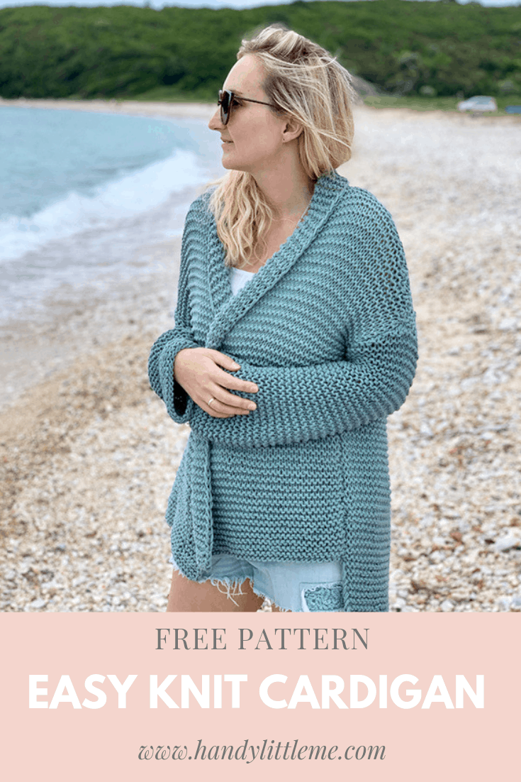 Easy knit cotton cardigan