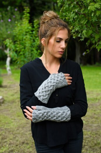Celtic Cable Fingerless Gloves Pattern