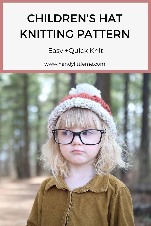 Children's hat knitting pattern