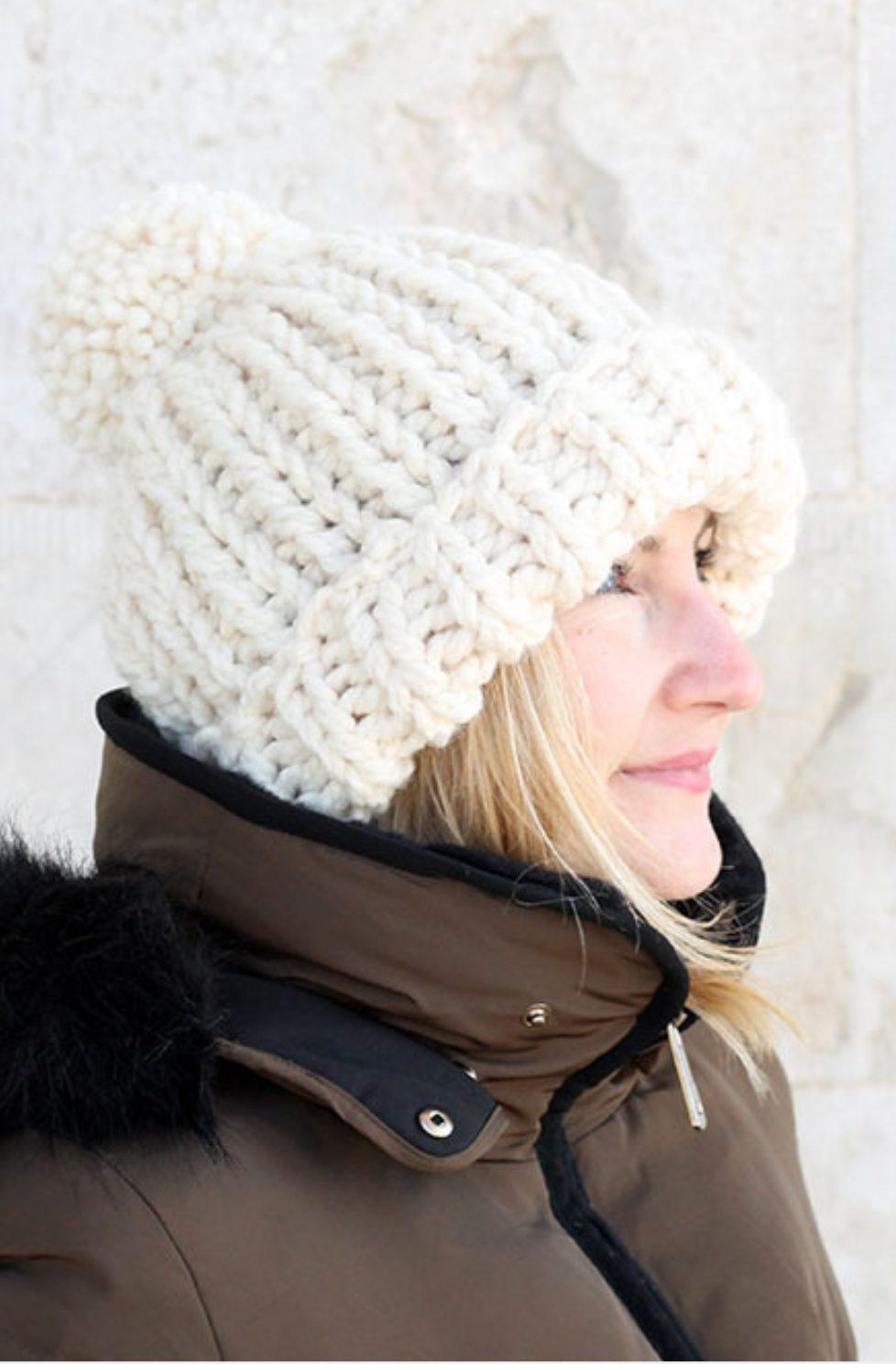 Chloe Kim hat knitting pattern