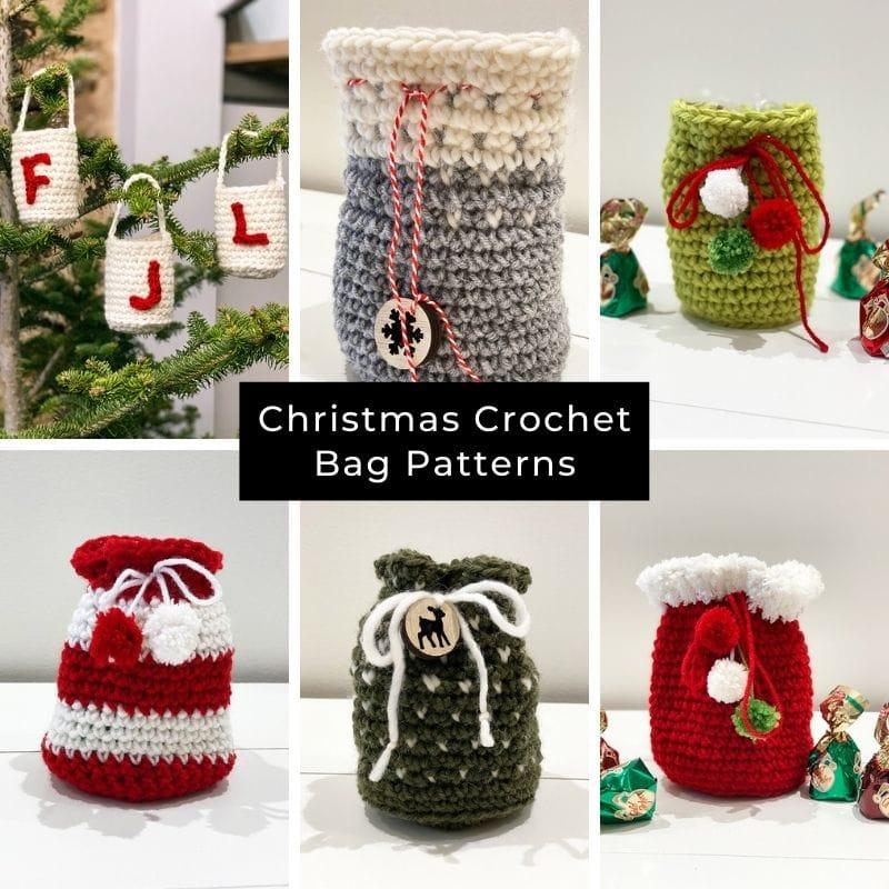 Christmas crochet bag patterns shop image