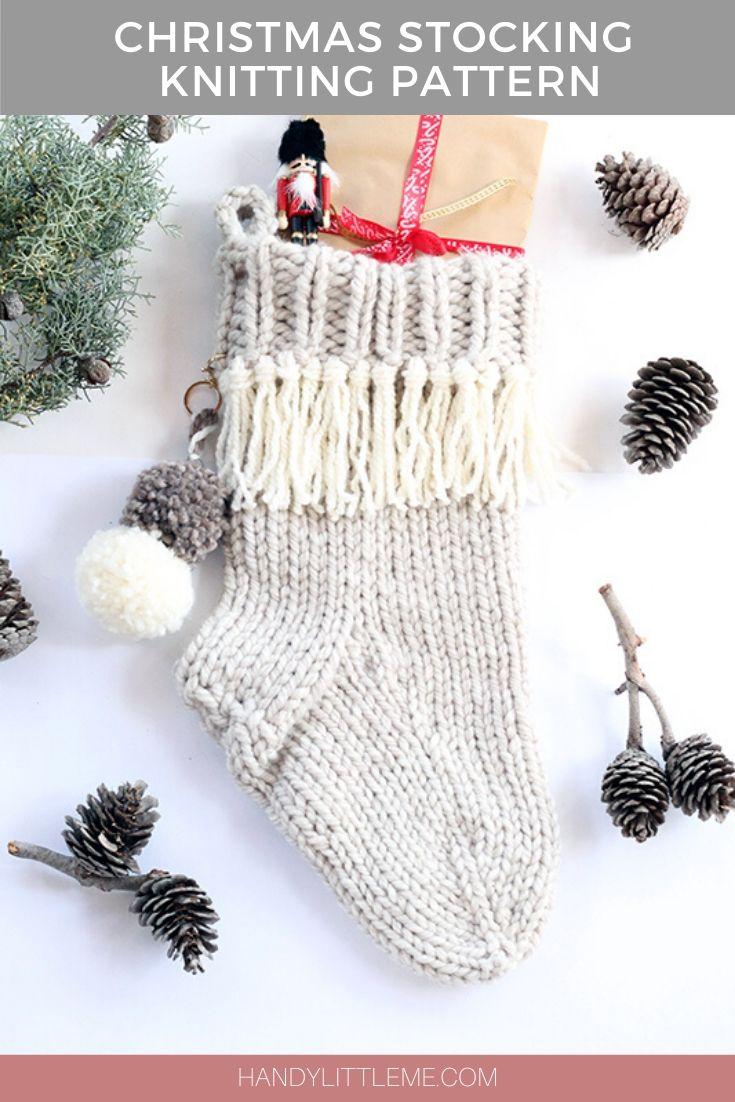 Christmas stocking knitting pattern