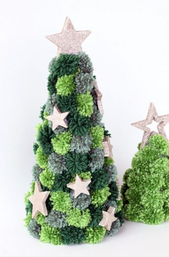 Pom Pom Tree Christmas Craft (Easy)