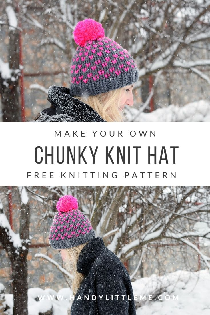 Chunky knit hat pattern for women