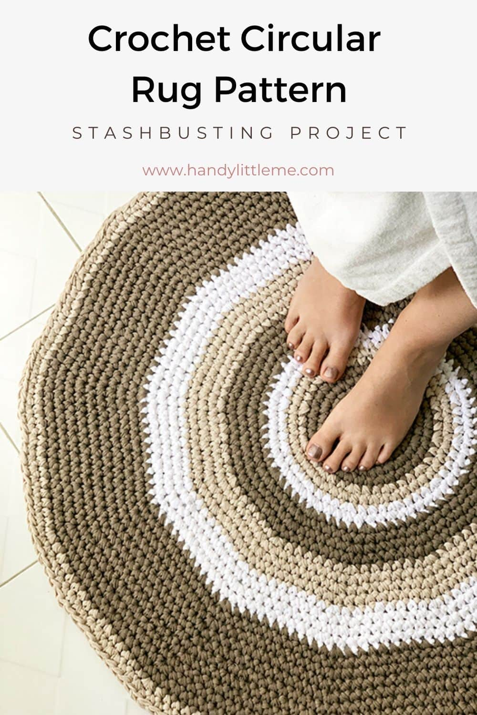 Circular rug crochet pattern