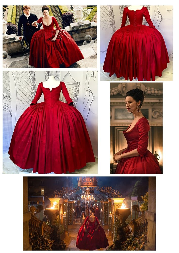 Claire Outlander red dress