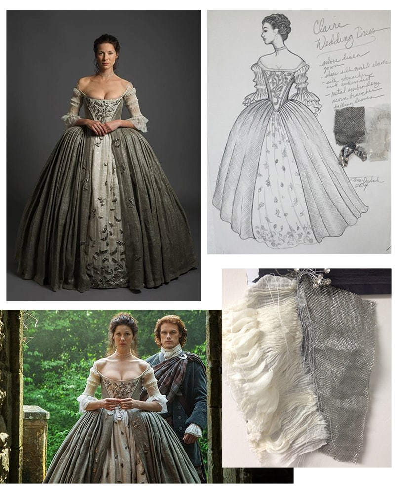 Claire from Outlander wedding dress