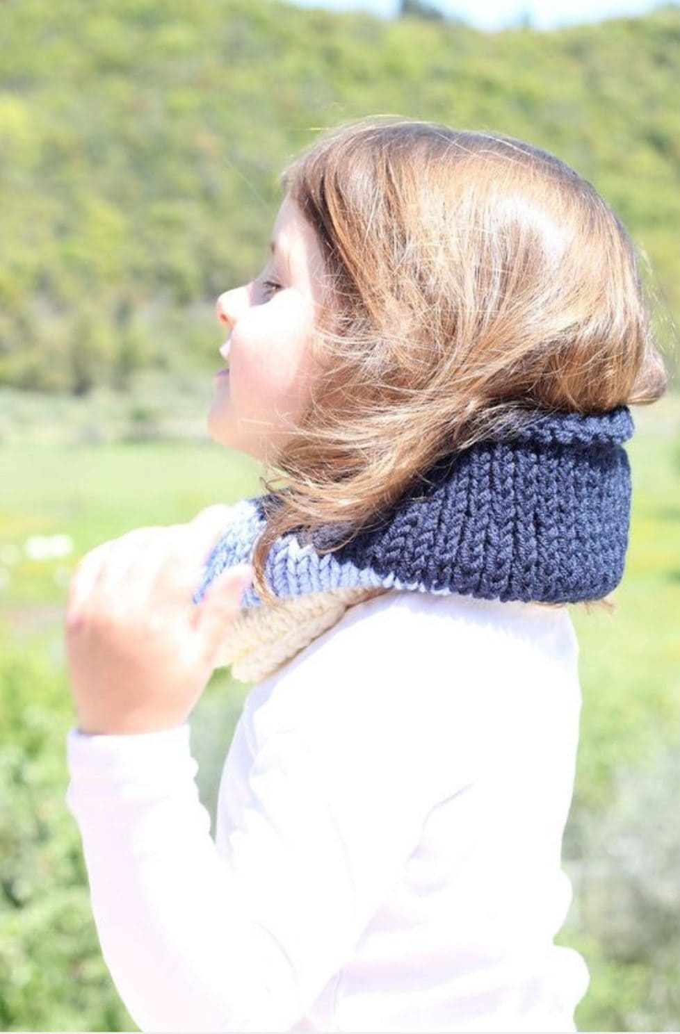 Kids Cowl Knitting Pattern