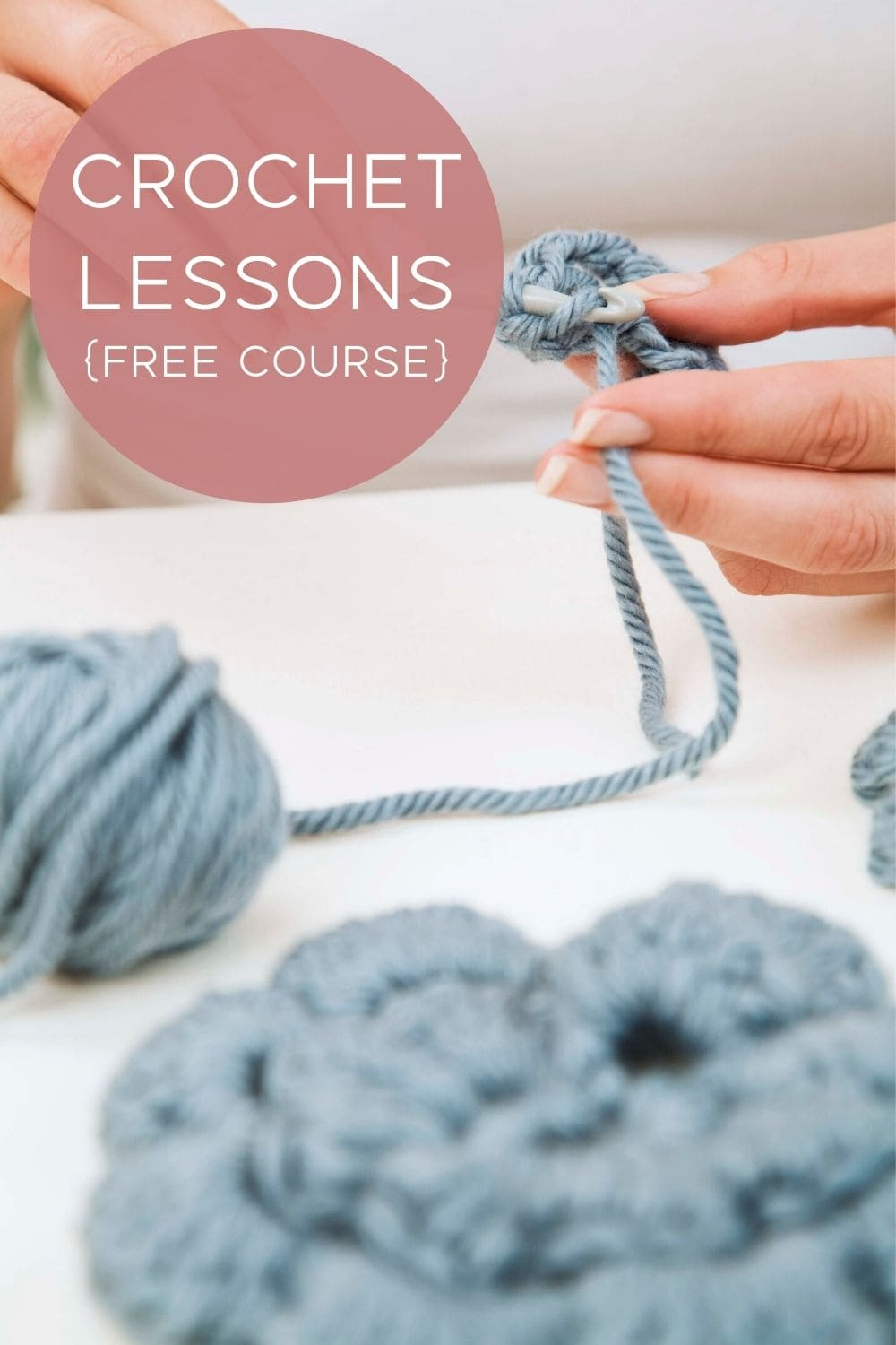 crochet lessons with yarn and hook