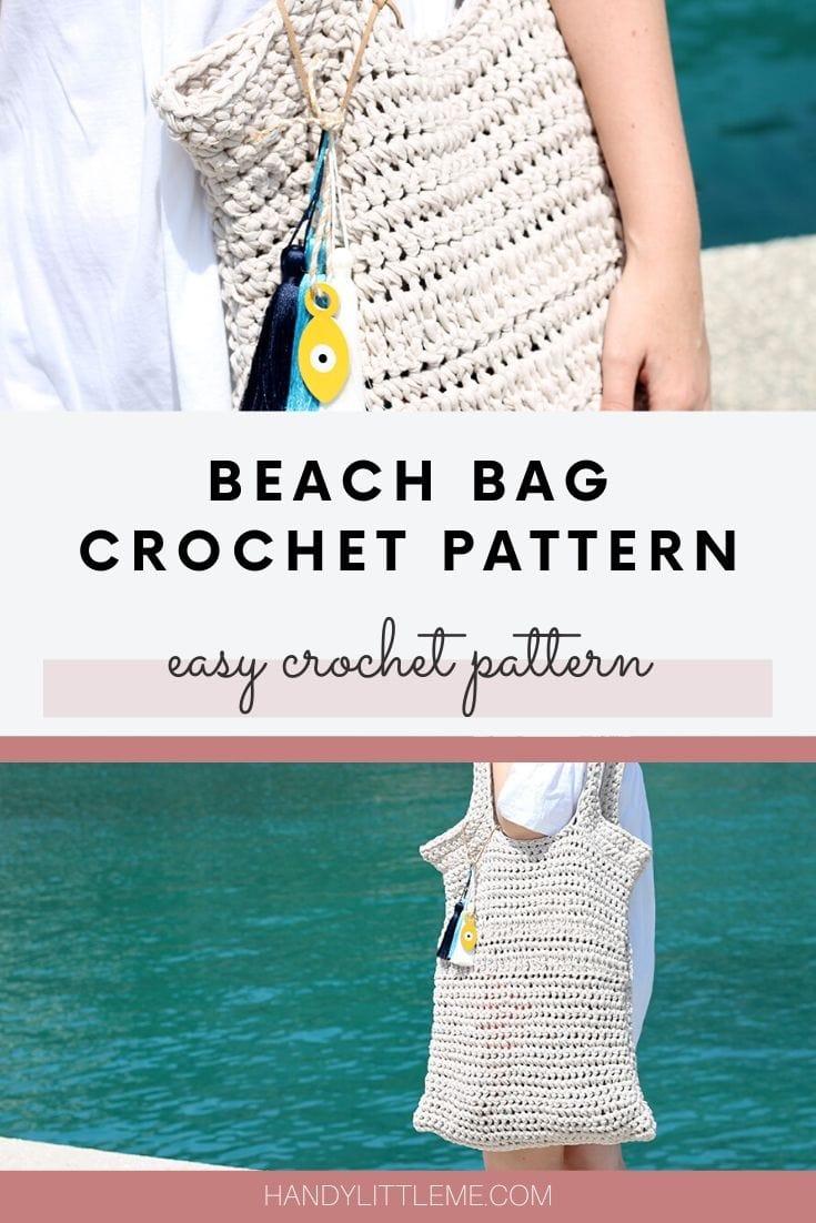 Crochet beach bag pattern