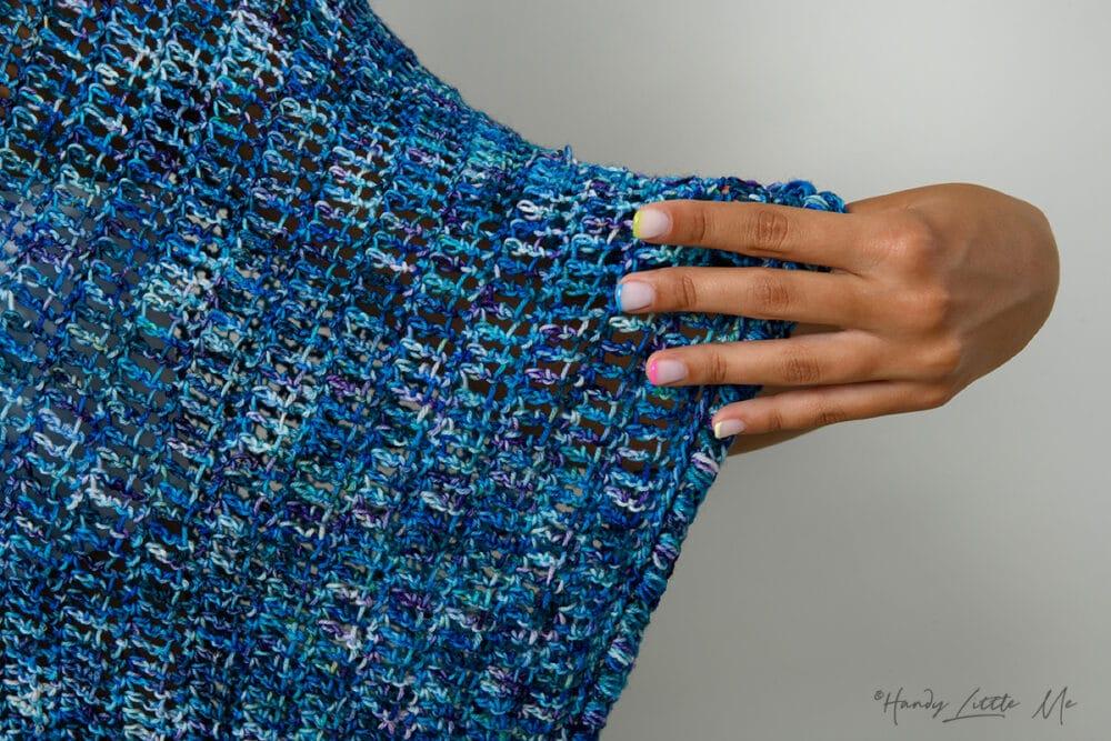 Crochet beach cover up close up