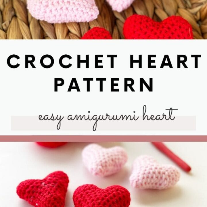 Easy Crochet Hearts - 3 Sizes • Sewrella   720x720