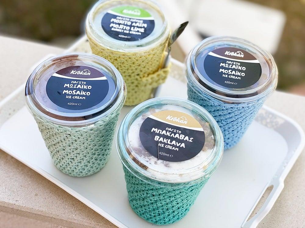 Cozies de helado de ganchillo