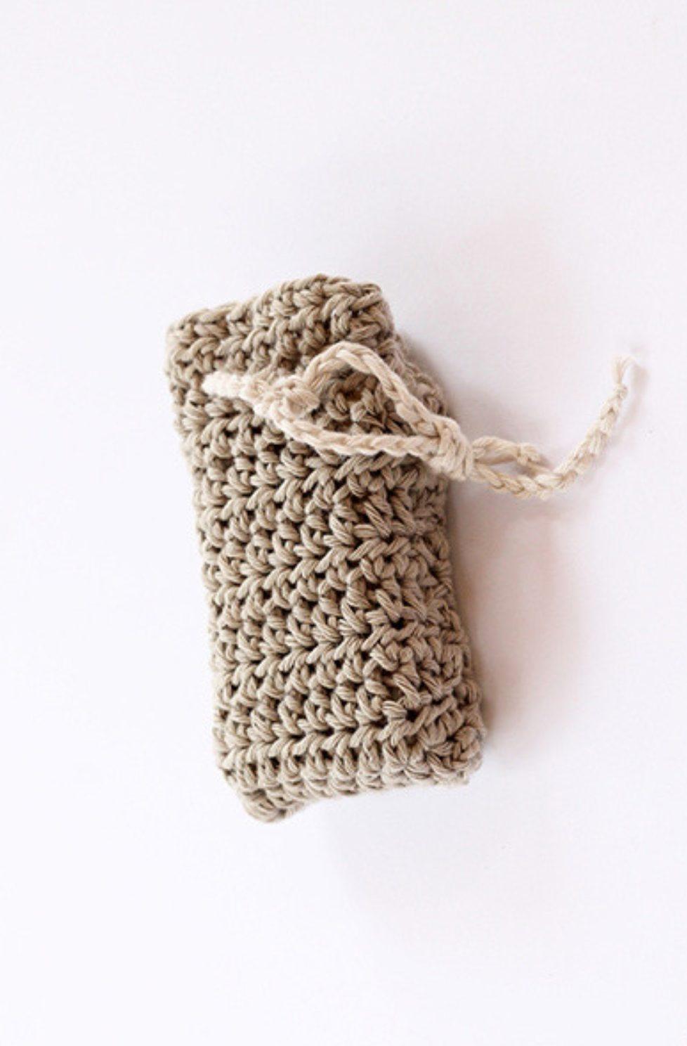 Crochet soap holder pattern