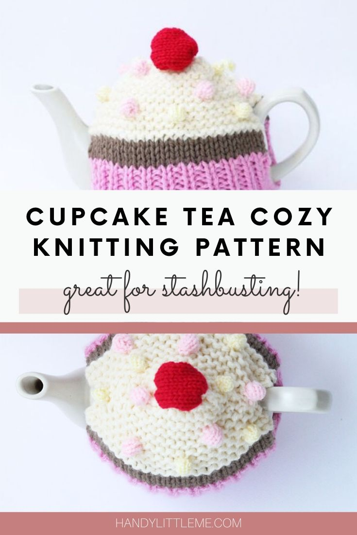Cupcake tea cosy knitting pattern