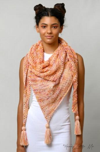 Diana Asymmetrical Shawl Knitting Pattern