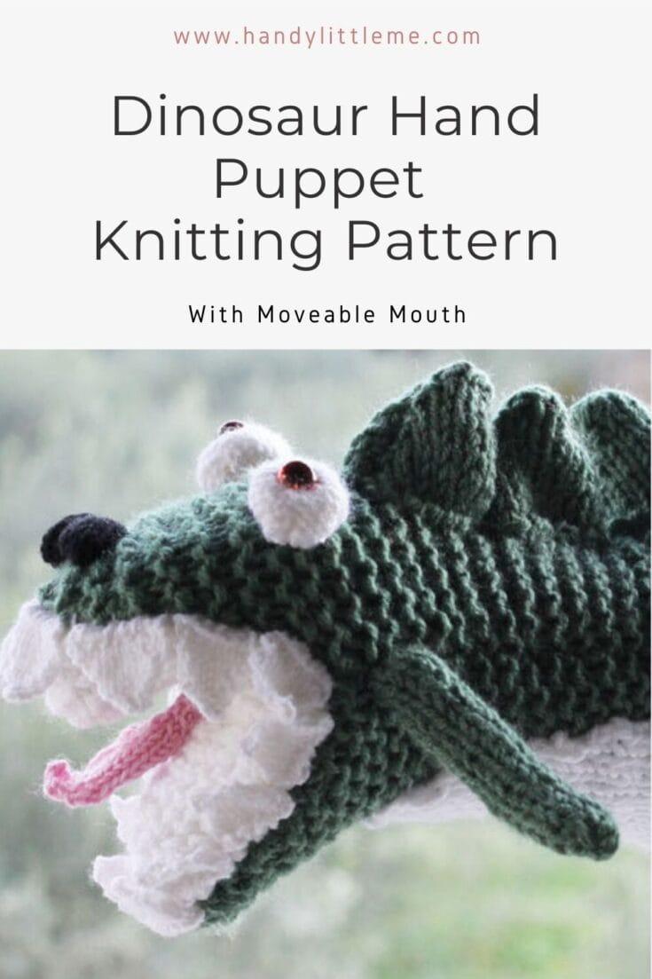 Dinosaur hand puppet pattern