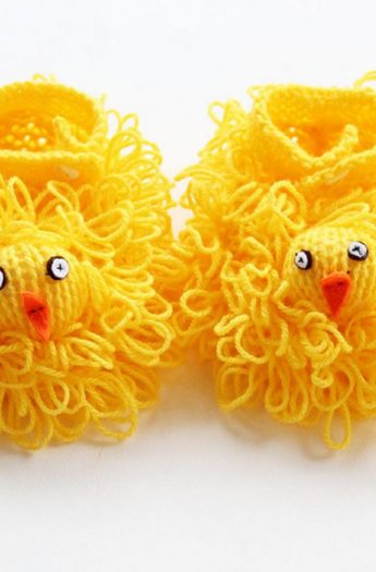 Easter Chick Slippers Pattern {+ Loop Stitch Tutorial}