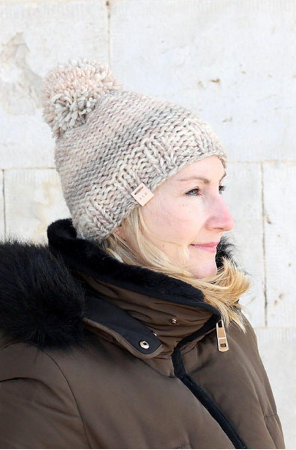 Easy garter stitch hat pattern