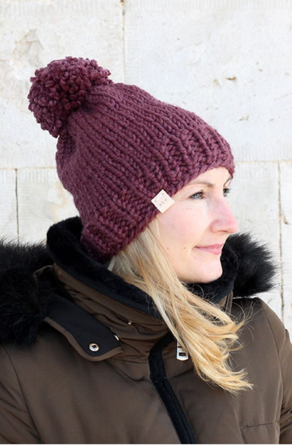 Easy hat knitting pattern
