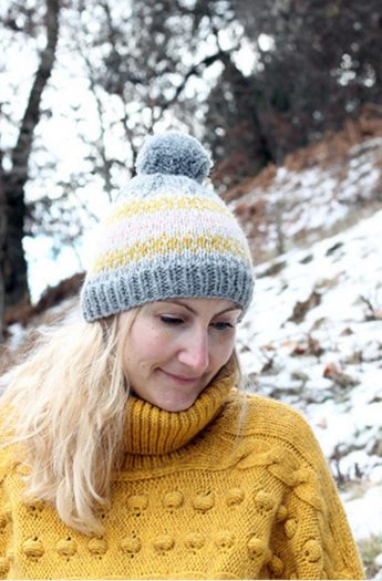 Fair Isle Knit Hat Pattern {With Chart}