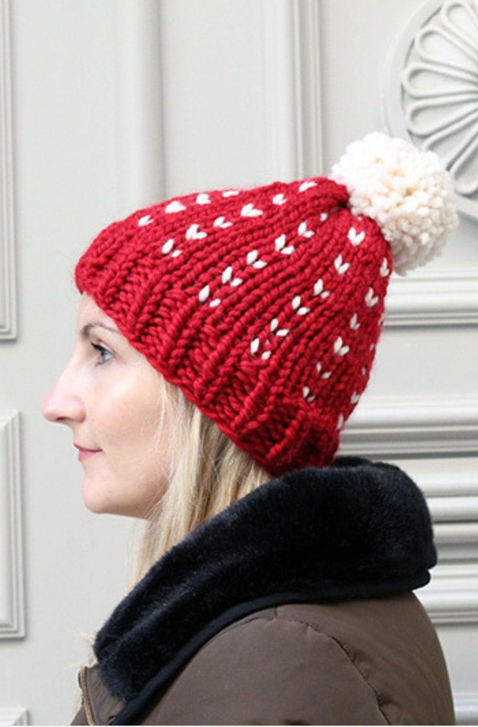 Fair isle hat knit