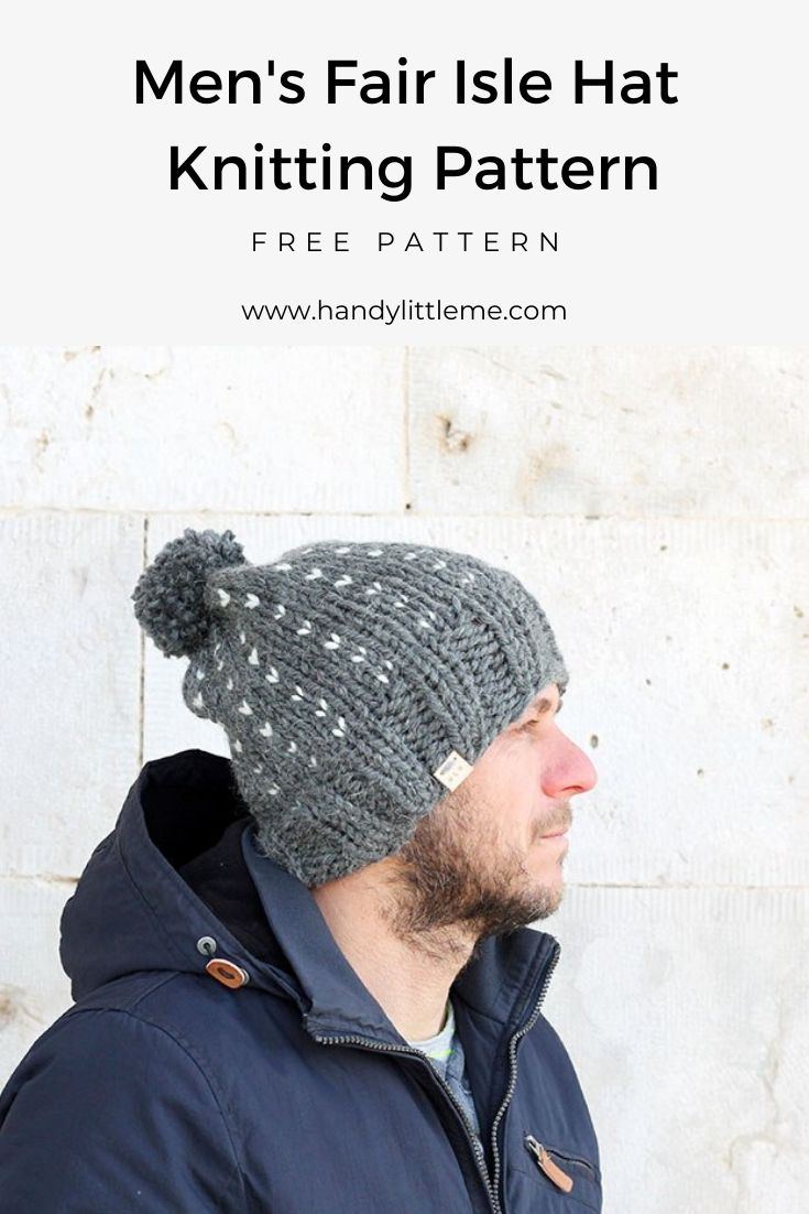 Fair isle hat pattern for men