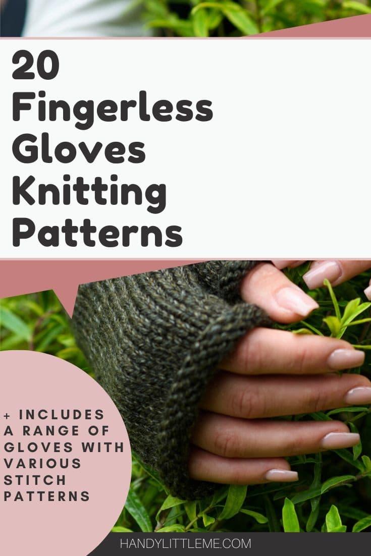 Fingerless gloves knitting patterns