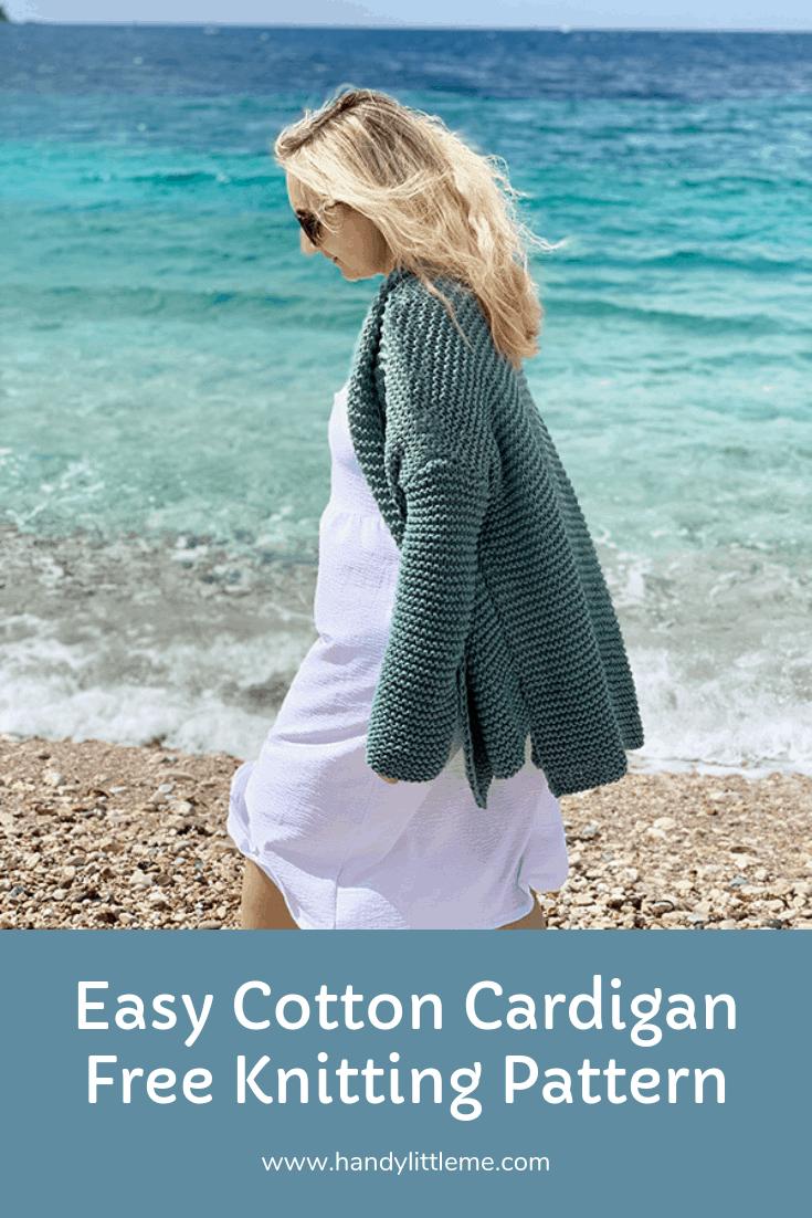 Cotton Comfort Easy Knit Cardigan Pattern | Free Knitting Patterns