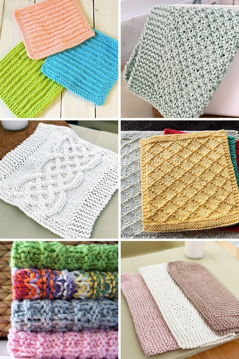 Free knitted dishcloth patterns feat image