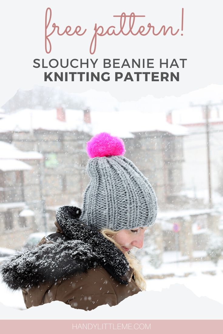 Free slouchy beanie hat pattern