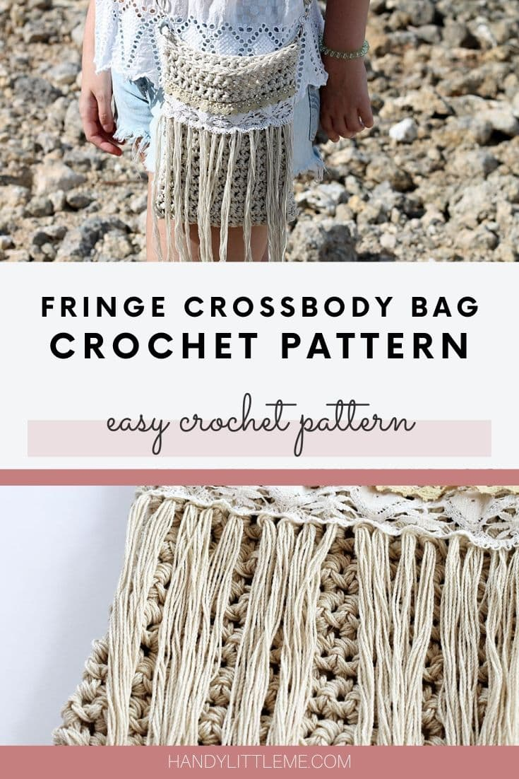 Fringe crossbody bag pattern