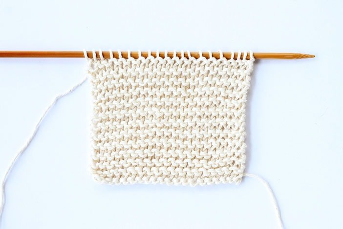 Garter stitch tutorial