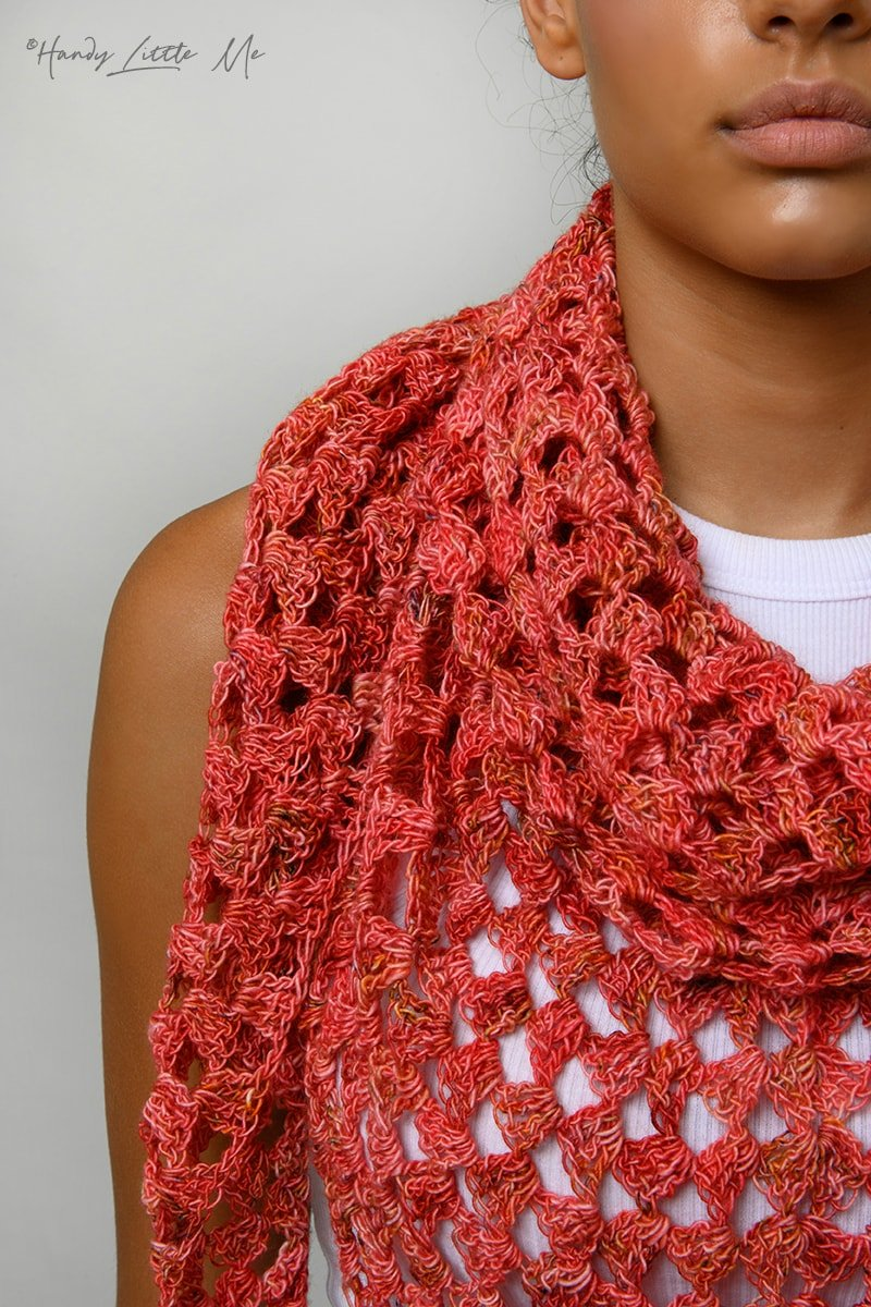 Granny triangle crochet shawl