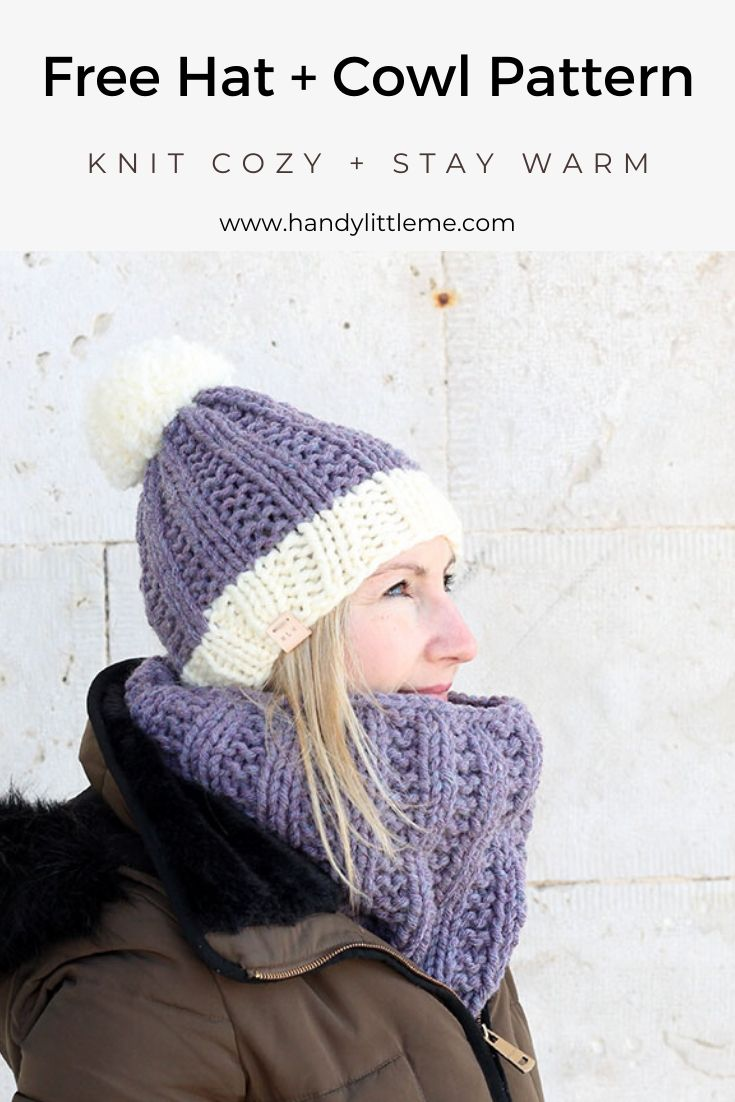 Hat and cowl knit
