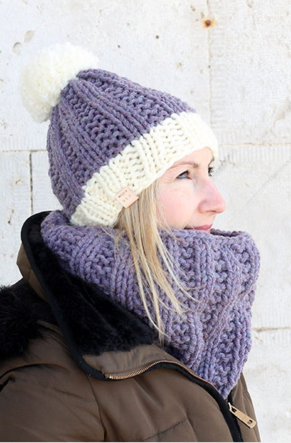 Cowl And Hat Knitting Pattern | The Elisavet