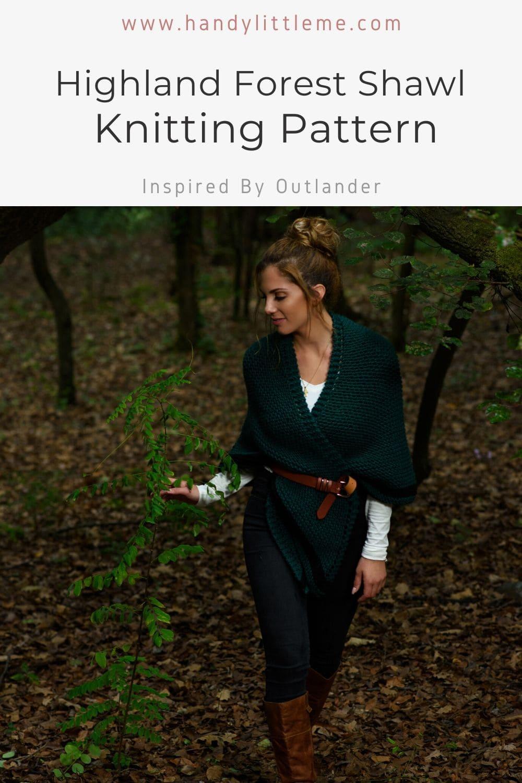 Highland forest shawl knitting pattern