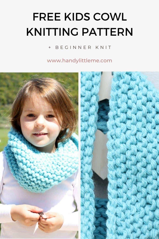 Kids cowl knitting pattern