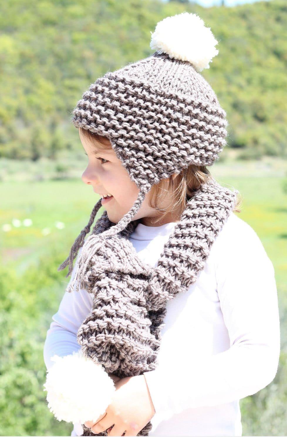f7fffd16856 Kids Hat and Matching Scarf Knitting Pattern