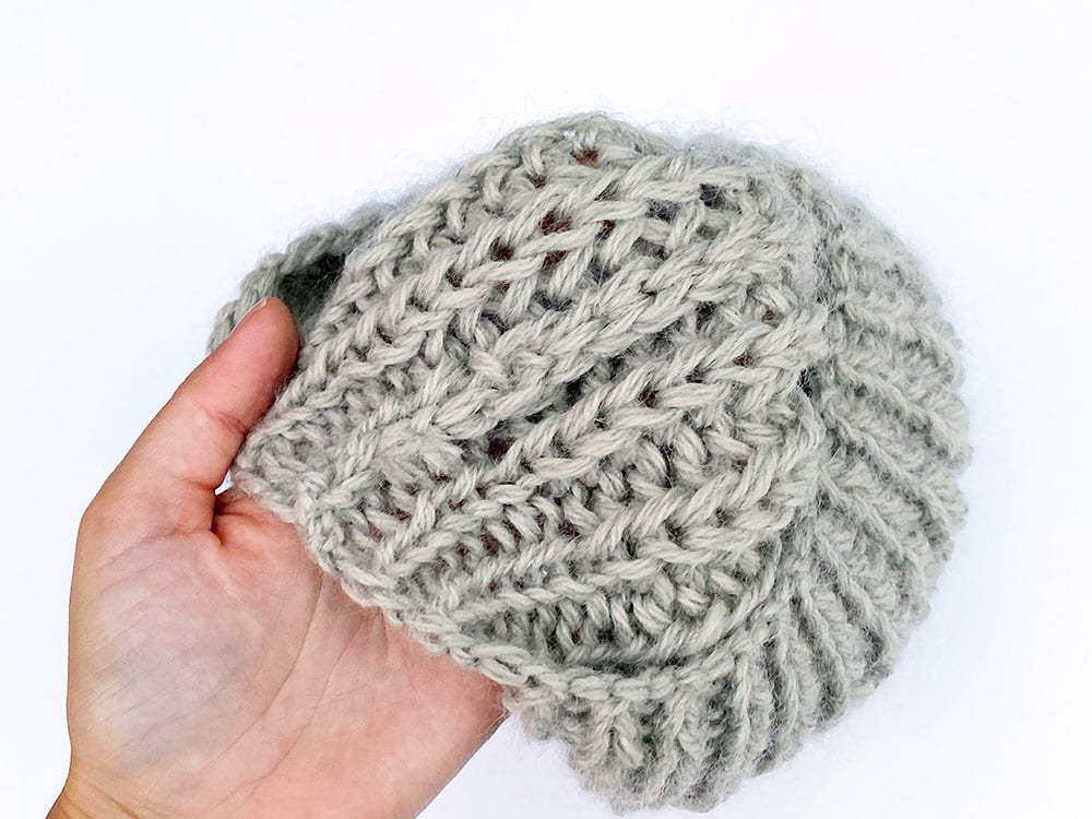 Knitted Beret inside seam